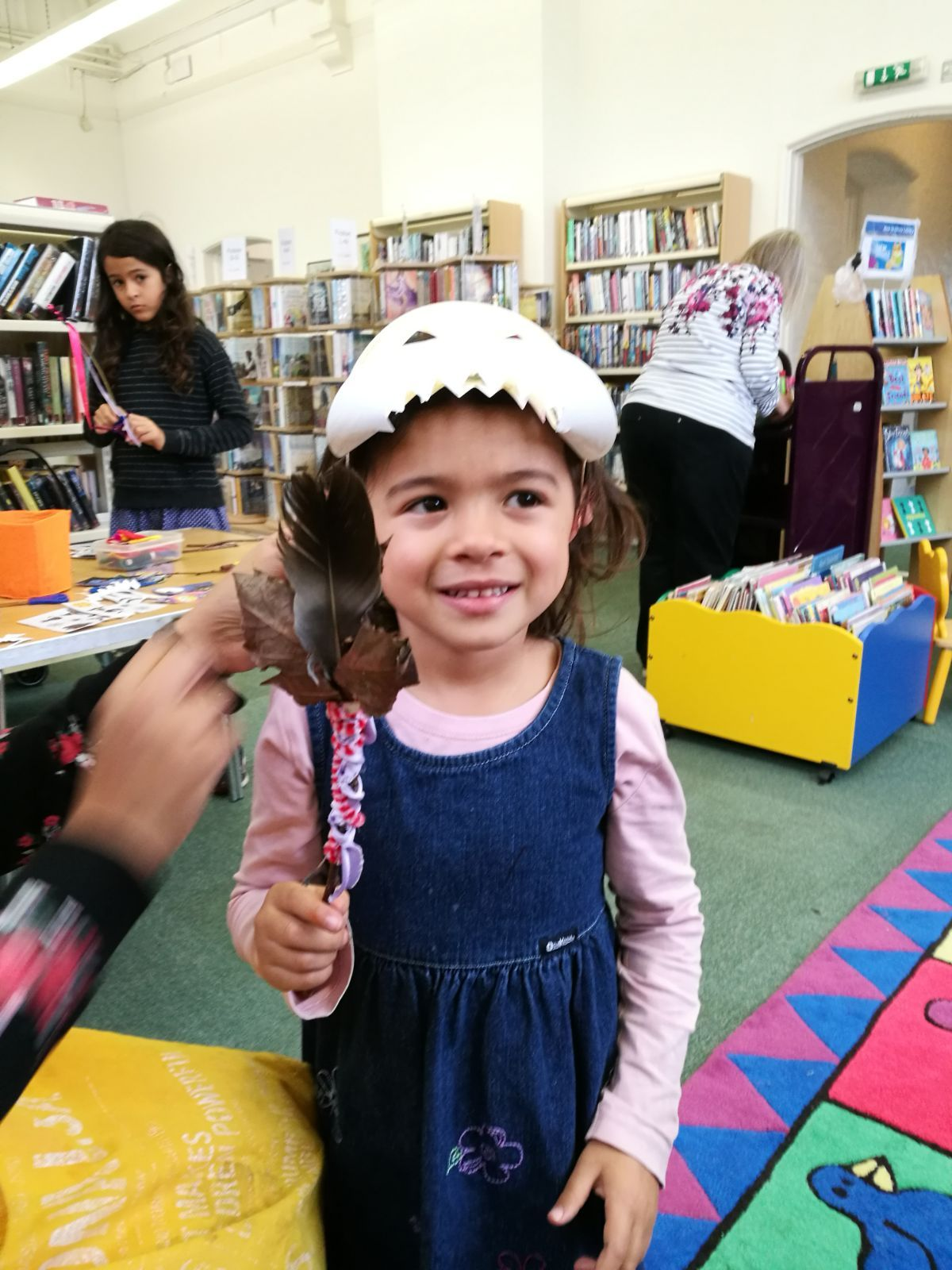 Halloween Crafts At Olney Library Were Very Popular With Over 60 Children And Their Families