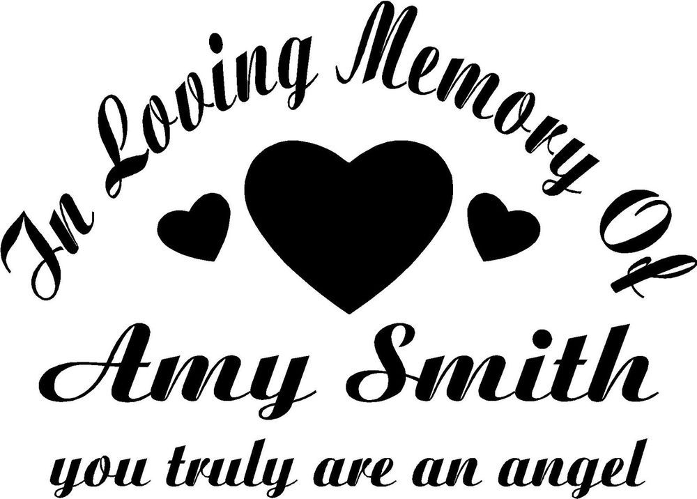In loving memory of hearts decal car window bumper sticker