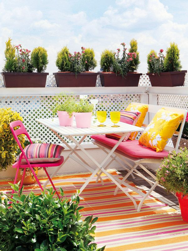5 ideas para decorar una peque a terraza urbana - Decoracion patios exteriores ...