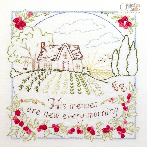 His Mercies Are New Summer 100% Cotton by ClementinePatterns