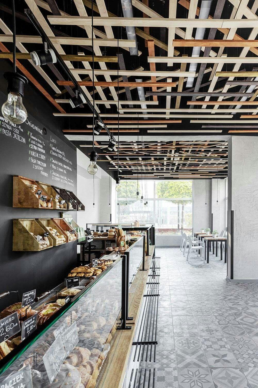 I Like The False Ceiling Idea Restaurant Design Bakery Interior