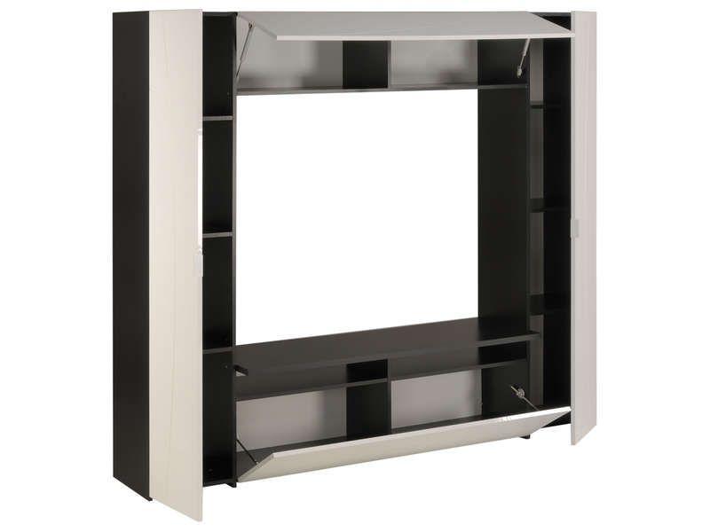 ممر نفسه تشكيلة meuble tv verre noir conforama