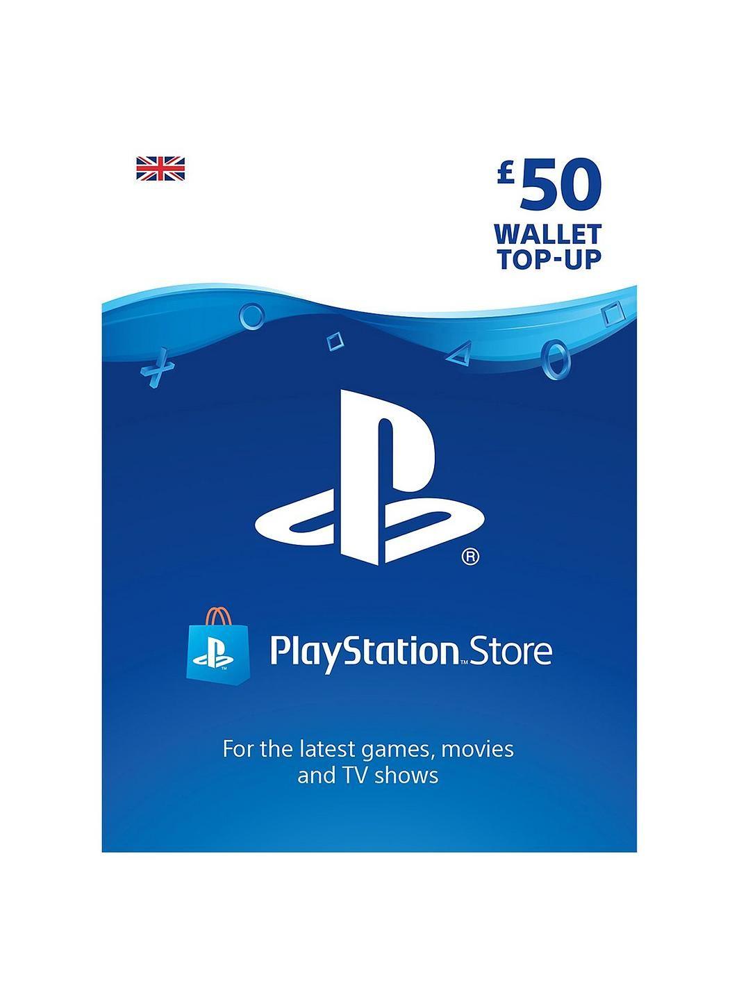 Playstation 4 PSN Wallet Top Up 50.00 Digital Dow