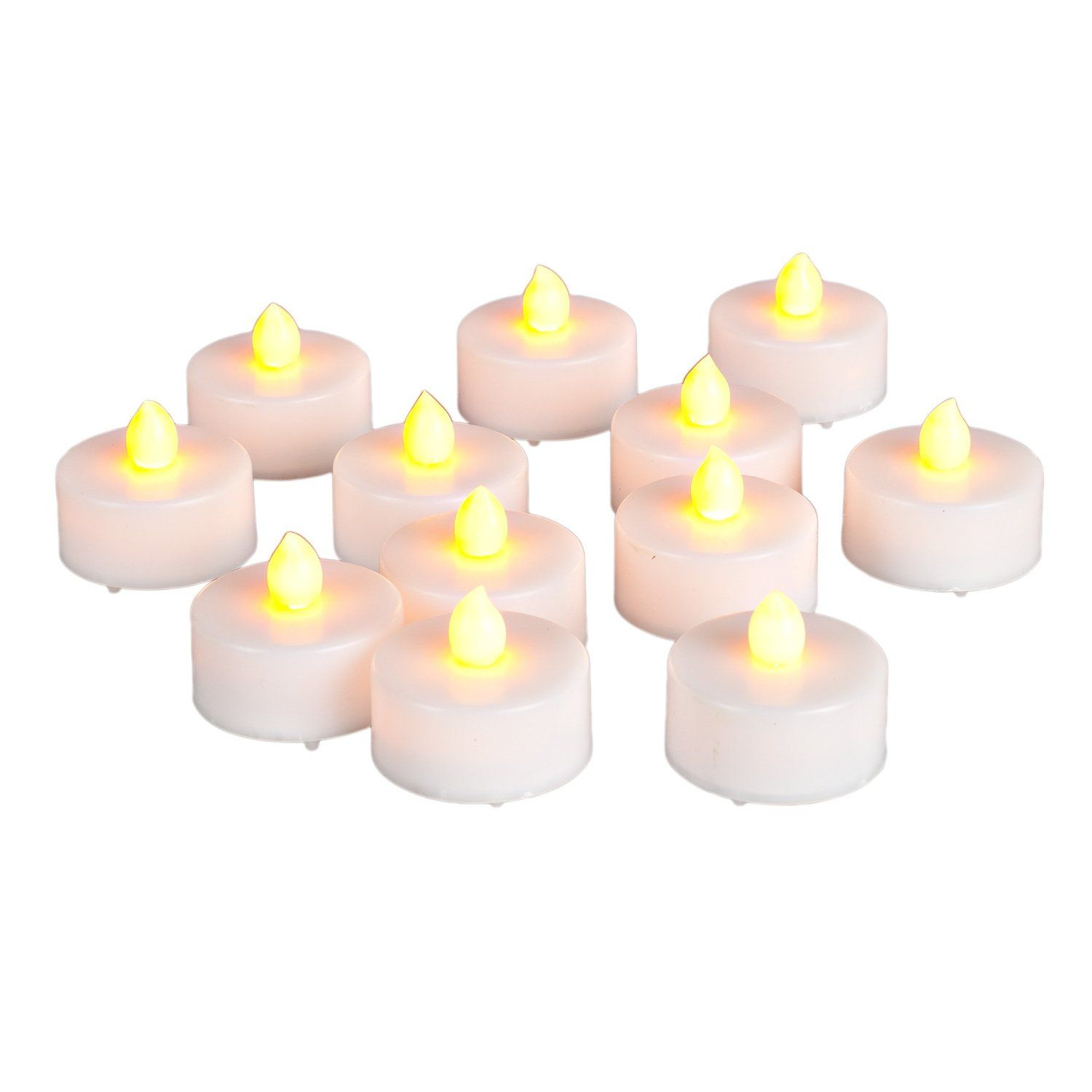 Amazoncom Everlasting Tealights Battery Operated Flamess Candles With Soft Flicker, 12 Pack