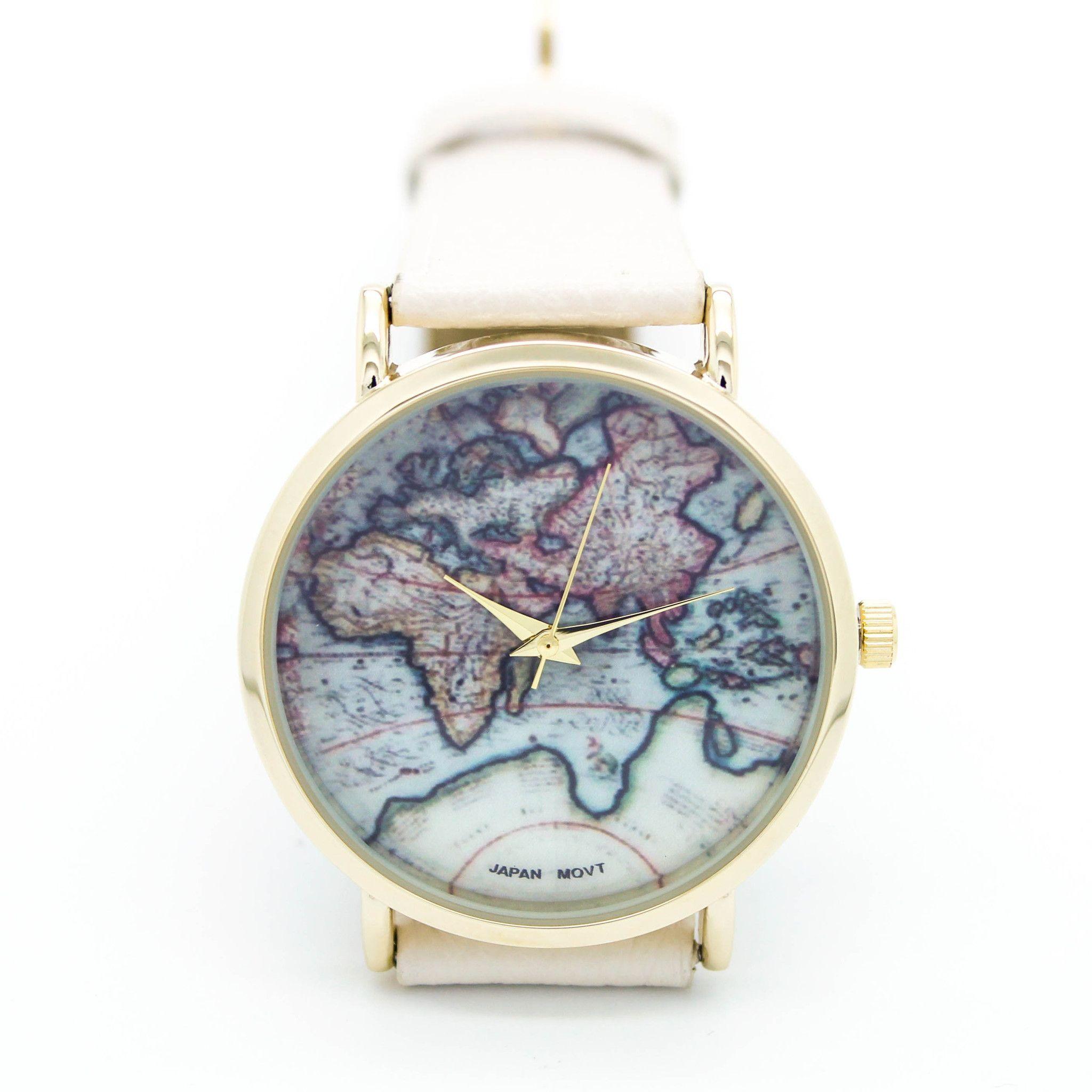 World map watch 5 colors reloj joya y regalitos world map watch 5 colors gumiabroncs Gallery