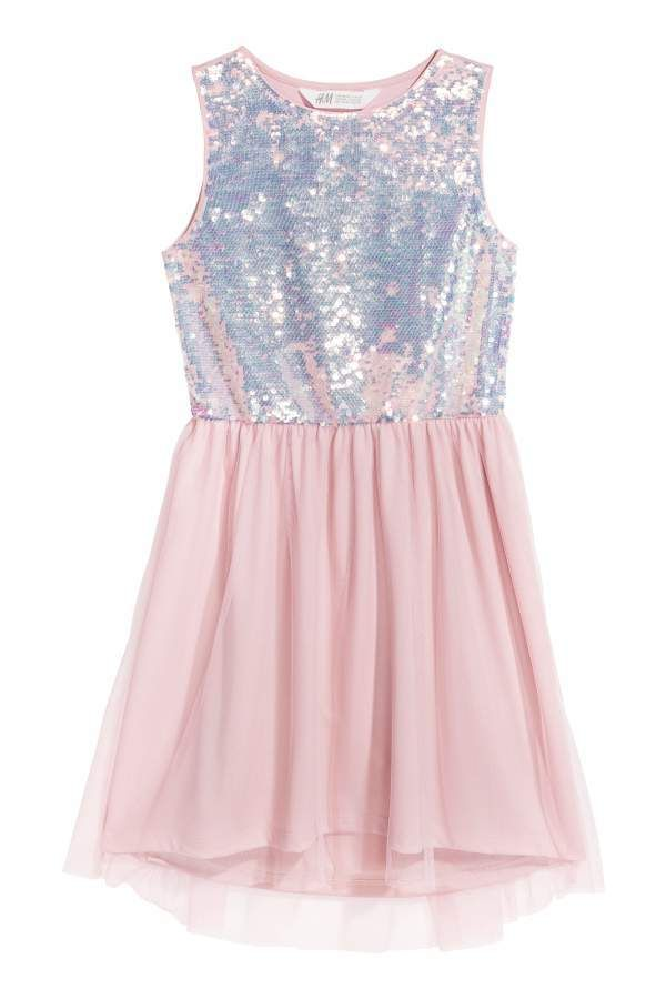1913308e0 H&M Sequin-embroidered Dress | Ropa de niña | Vestidos, Ropa y Ios