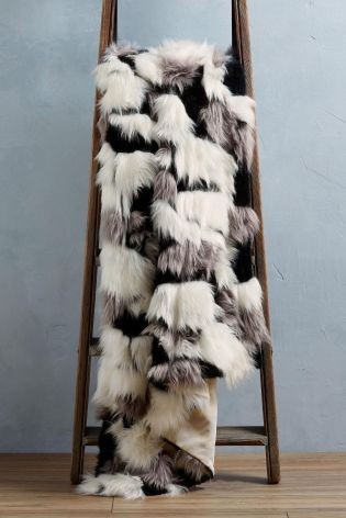 342292b153 Buy Mono Multi Patch Faux Fur Throw from the Next UK online shop ...