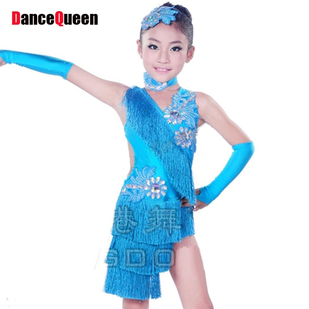 Click to Buy << 2017 New Arrival Latin Dance Dress For Girls ...