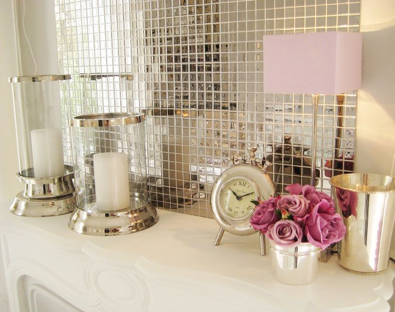 Mirror Tiles Decorating Ideas Want To Try This Mosaic Mirror Tile Piece As A Diy Project