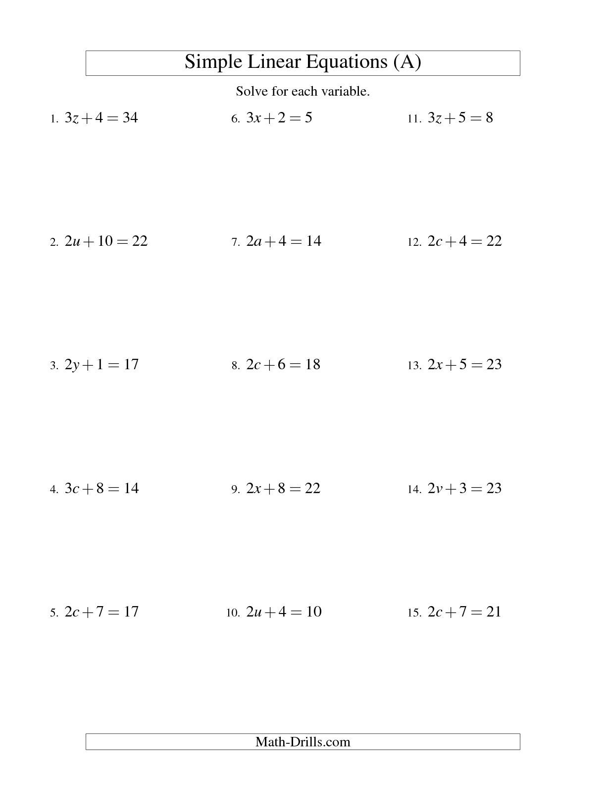 The Solving Linear Equations Form Ax B C A Math