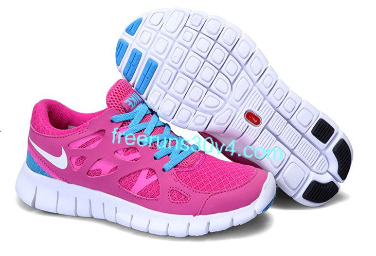 huge selection of c3e84 d15c4 Womens Nike Free Run 2 Cherry White Treasure Blue Shoes