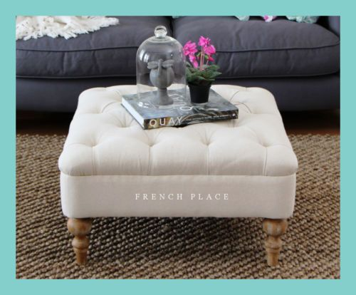 **SALE** NEW French Provincial Ottoman / Coffee Table / Side Table / Footstool