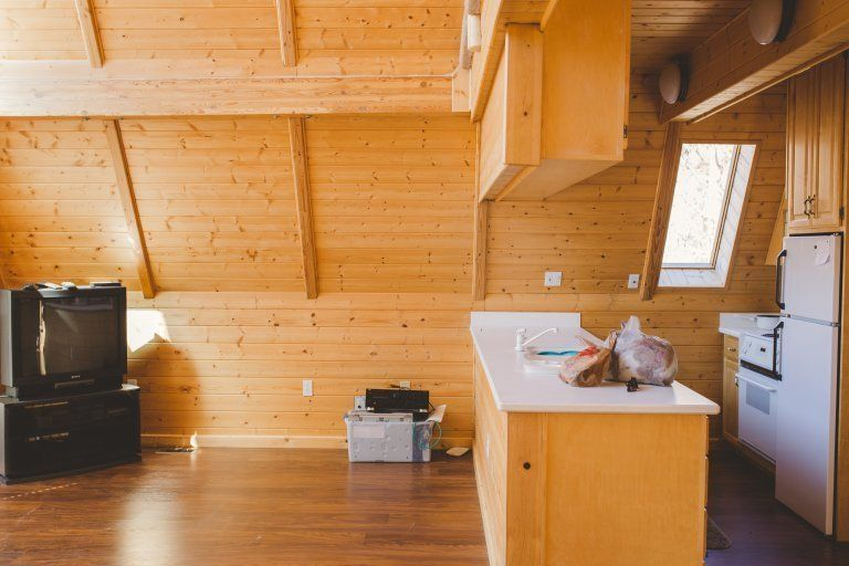 Before And After: An A Frame Cabin Boasts Serious Scandinavian Vibes