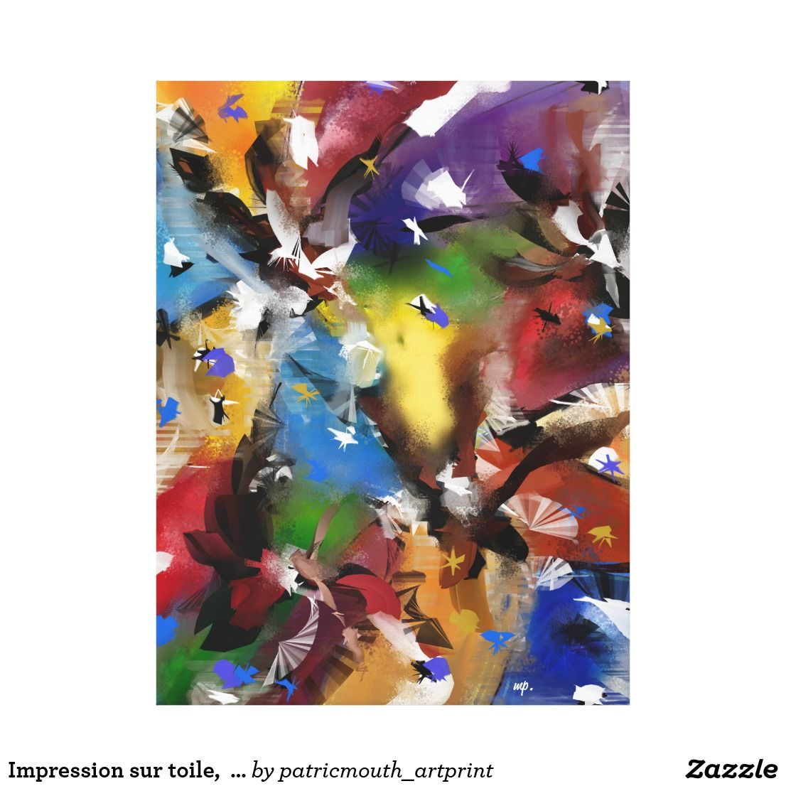 "Impression sur toile,  ""Abstract 2.1705"""