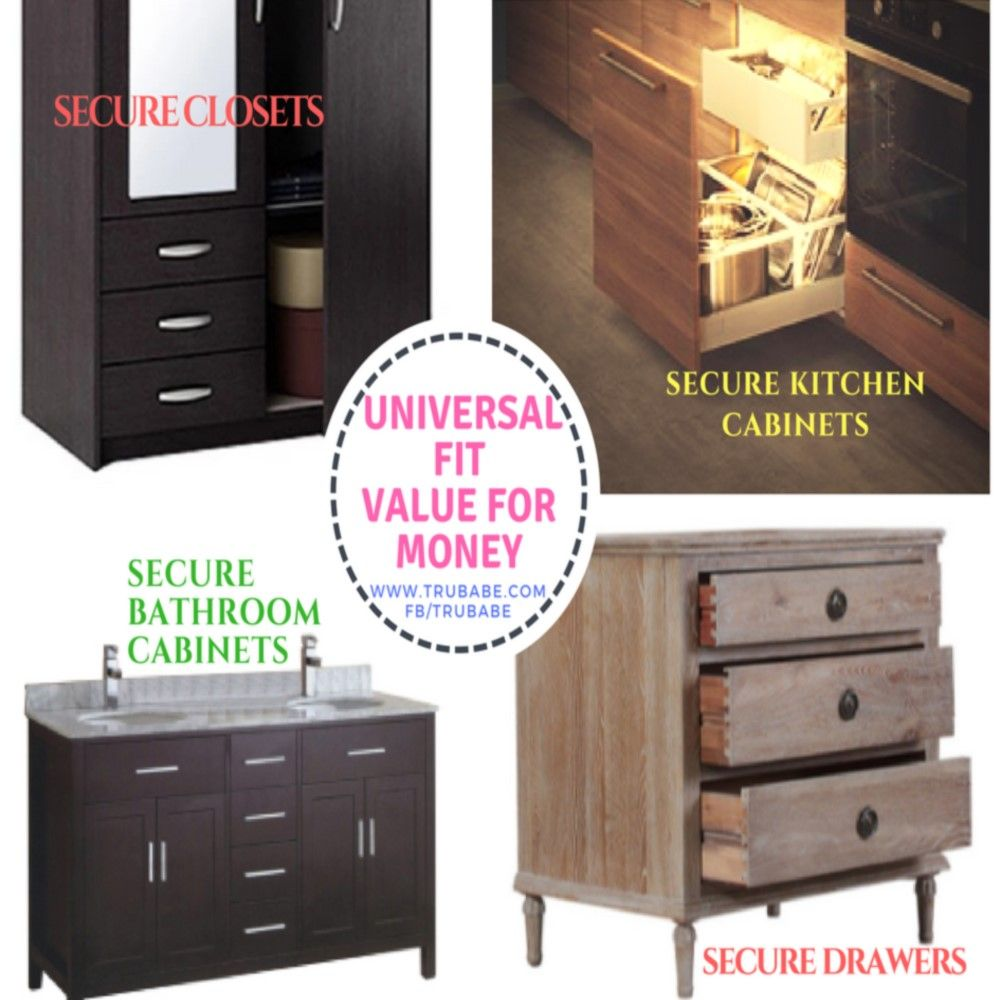 Baby Proof Cabinets Without Drilling Cabinet Locks Baby Cabinet