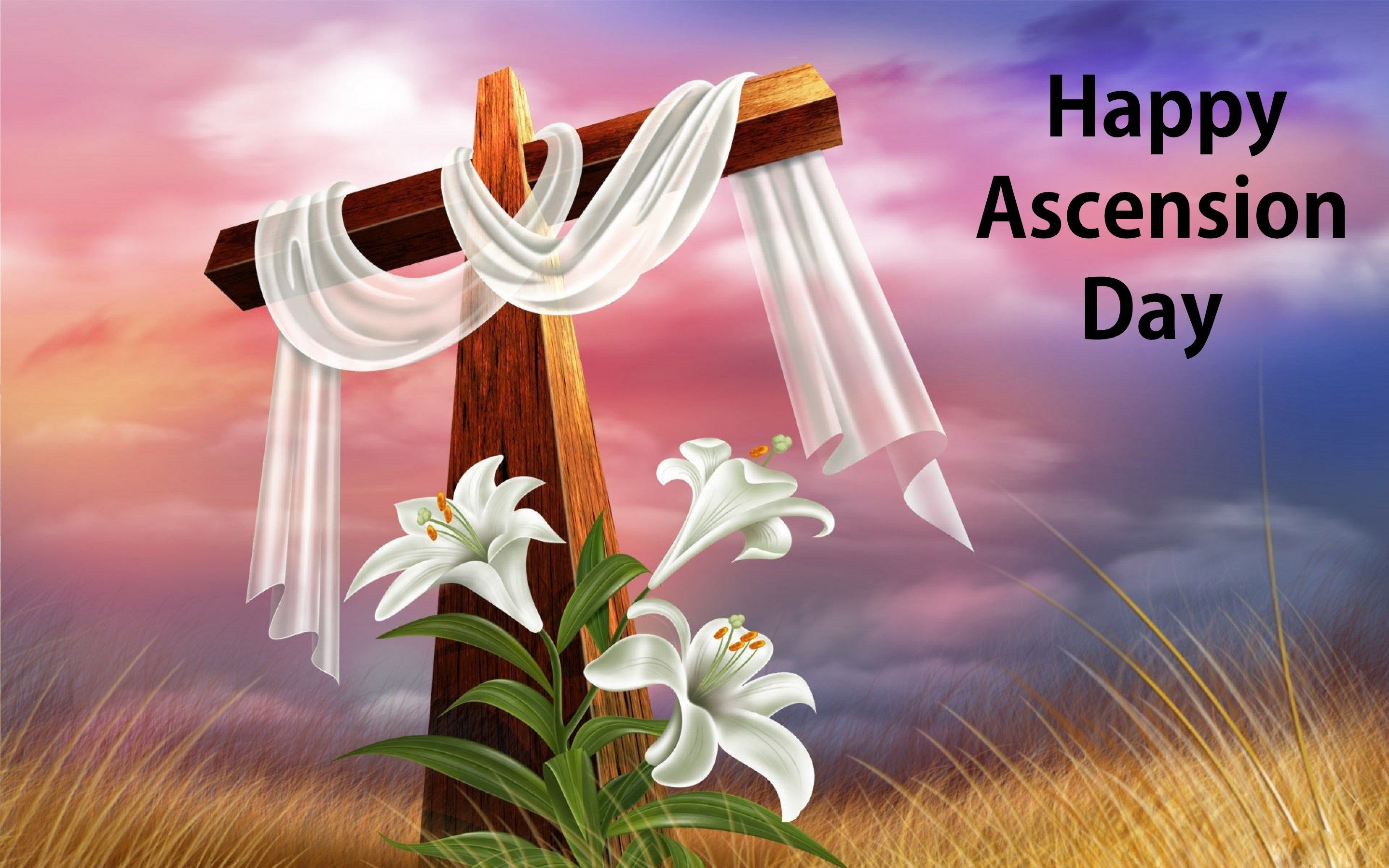 Happy Ascension Day Happy Easter Sunday Easter Wallpaper Ascension Day