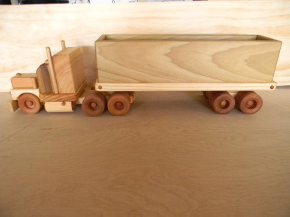 Wooden Toy Truck Big 18 Wheeler Coal Truck With Images