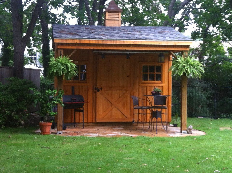 10x12 Cypress Board Amp Batten Shed With Overhang