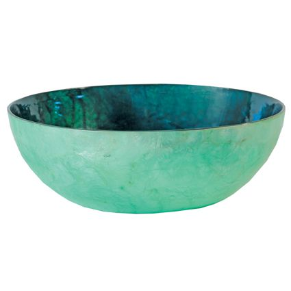 Turquoise Decorative Bowl I Would Love This Turquoise Capiz Shell Bowl It Would Look