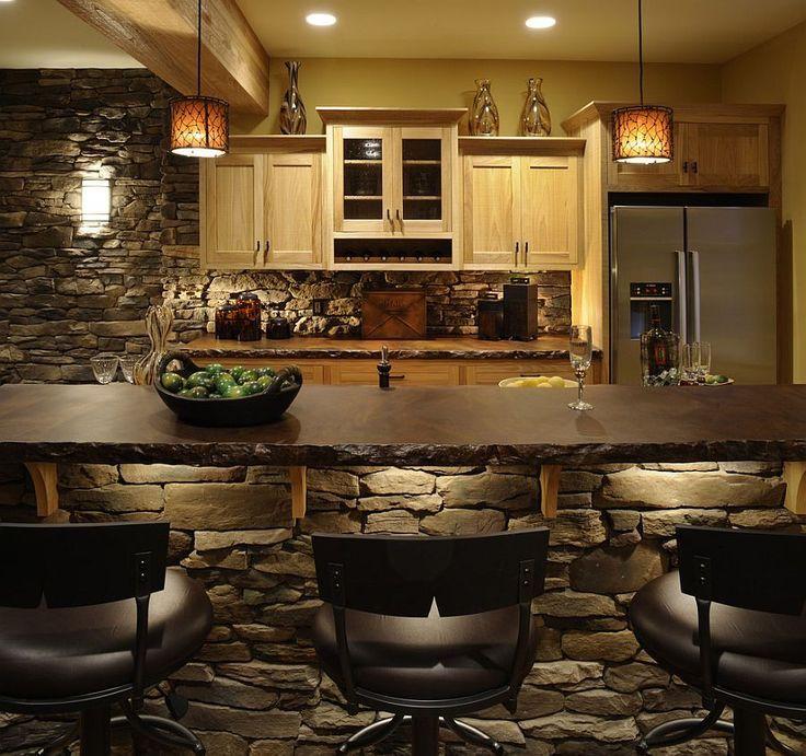 Rustikal modern  Bildergebnis für kücheninsel steinplatte rustikal modern | Küchen ...