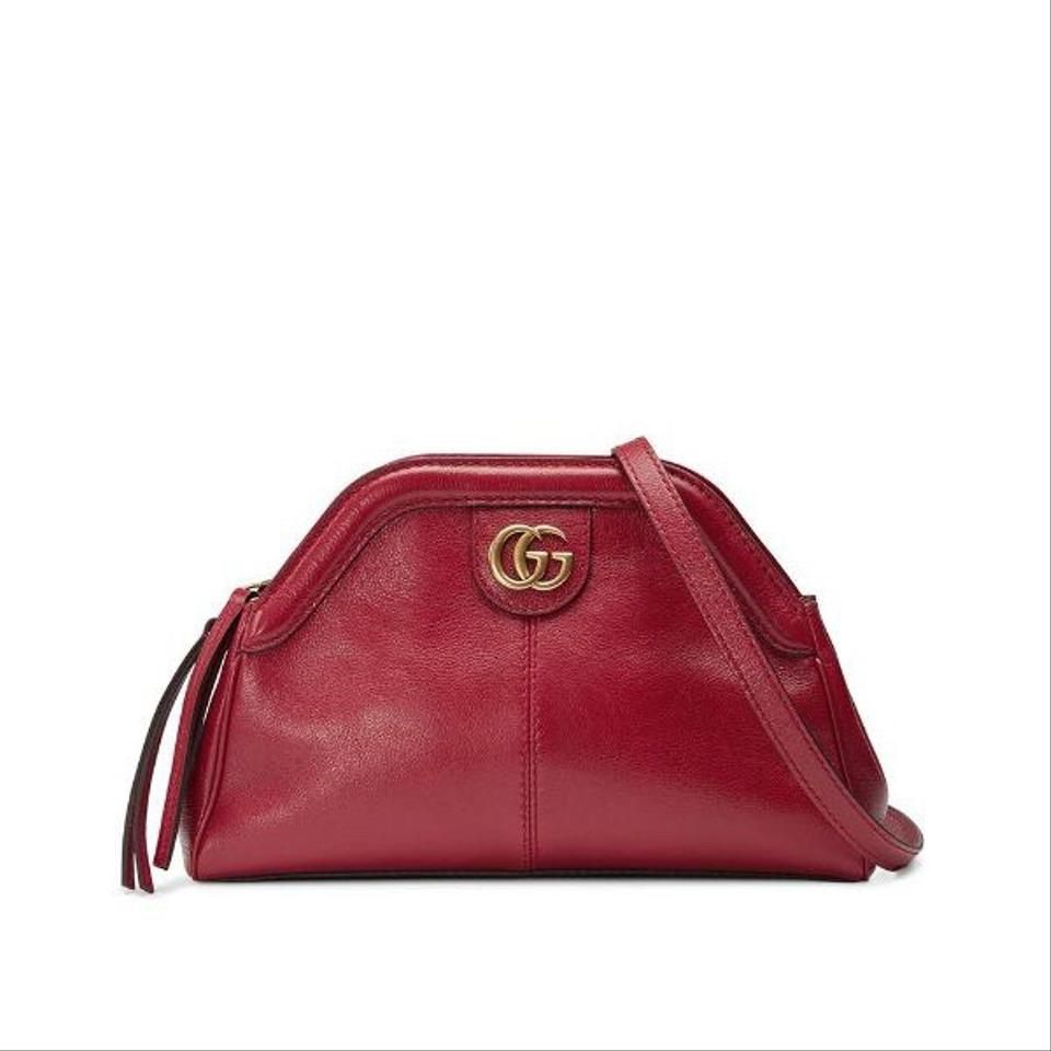 Gucci | Small Red Leather Shoulder Bag