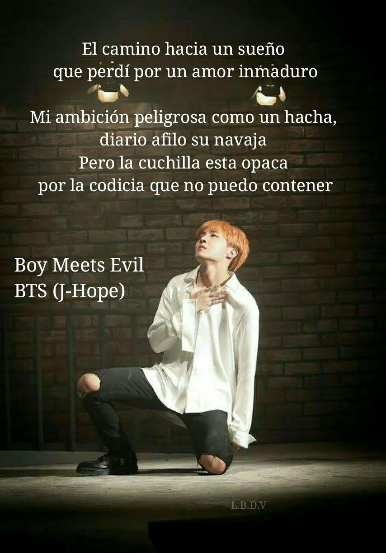 Frases De Canciones De Bts J Hope Boy Meets Evil Bts