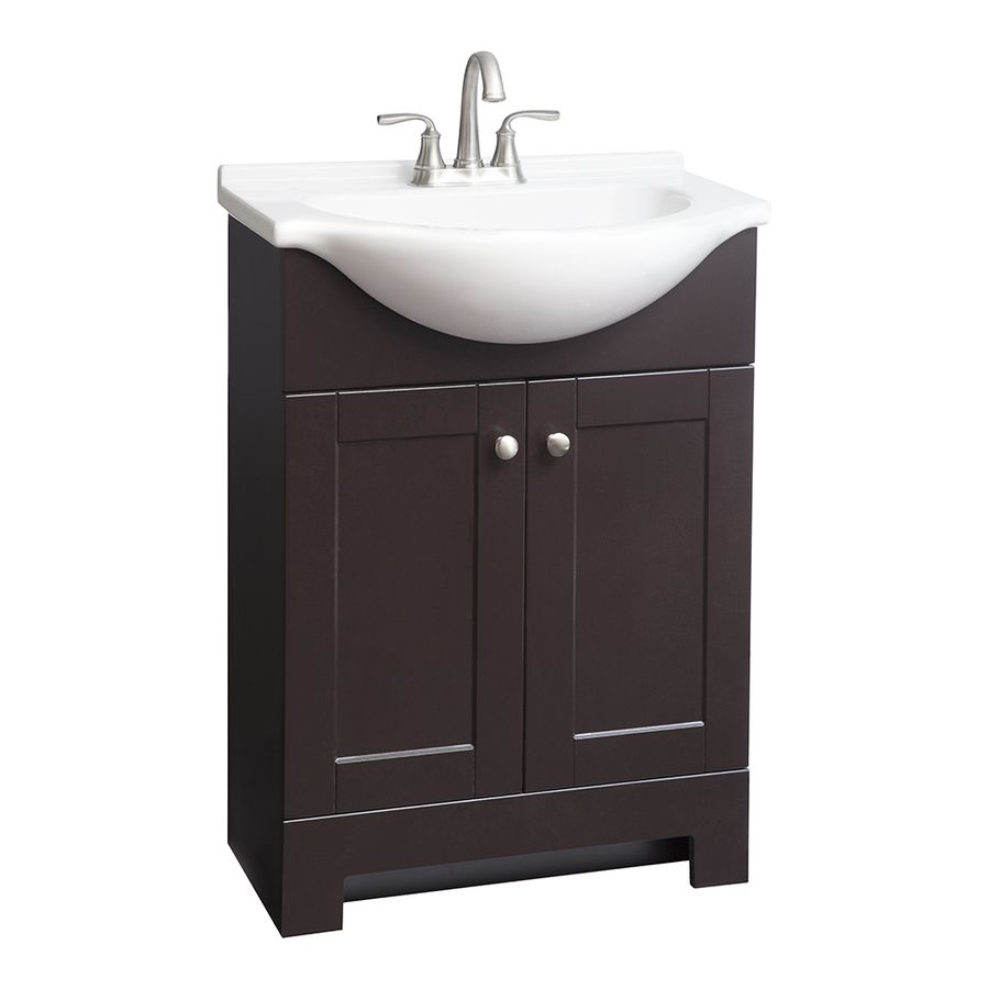 Shop Style Selections Euro Espresso Integral Single Sink Bathroom Captivating Bathroom Vanities At Lowes Decorating Inspiration