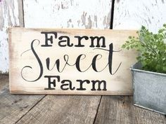 Rustic Wood Sign - Farm Sign - Rustic Home Decor - Rustic Decor - Wooden Wall Hanging - Hand Painted Wood Sign - Farm House Sign - Wood Sign by RiOakWesternDesign on Etsy https://www.etsy.com/listing/453041232/rustic-wood-sign-farm-sign-rustic-home