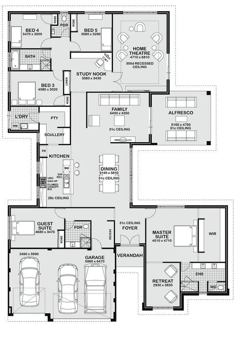 Floor plan friday bedroom entertainer also best house designs images in diy ideas for home dream rh pinterest