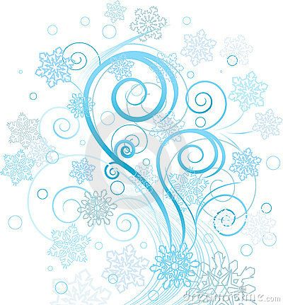 Royalty-Free (RF) Clipart Illustration of a Wintry Design Element ...