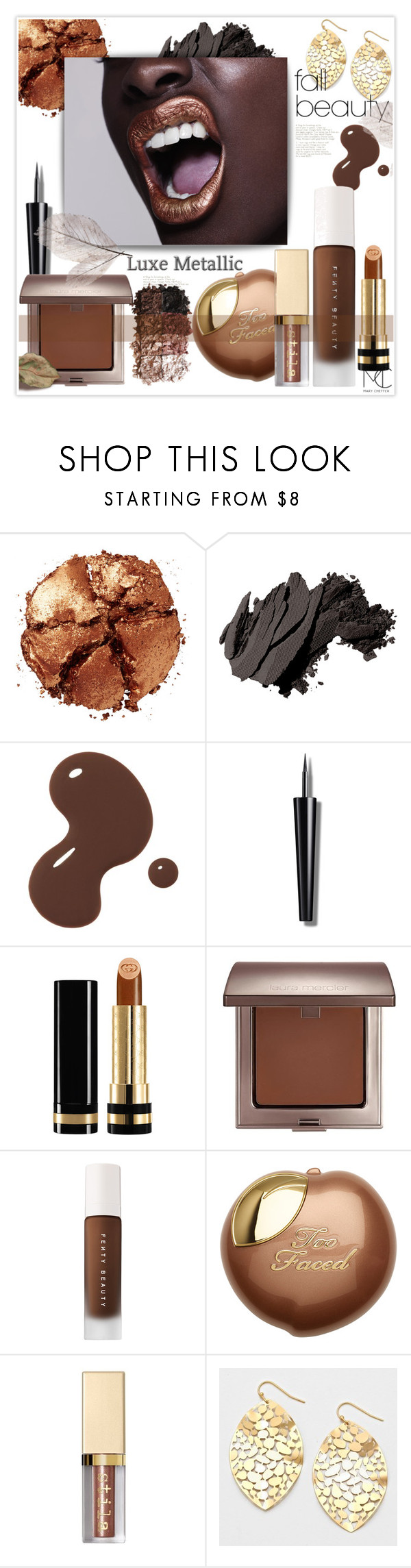 """""""The Best in Fall Beauty"""" by mcheffer ❤ liked on Polyvore featuring beauty, Pat McGrath, Bobbi Brown Cosmetics, Gucci, Laura Mercier, Puma, LORAC and fallbeauty"""