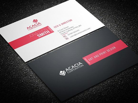 Elegant Business Card Templates Features Fully Customizable And