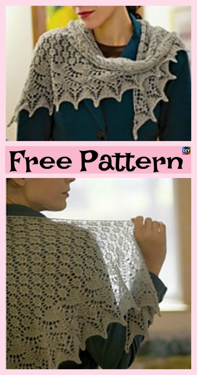 8 Pretty Knitting Lace Shawl Free Patterns | Shawl, Free pattern and ...