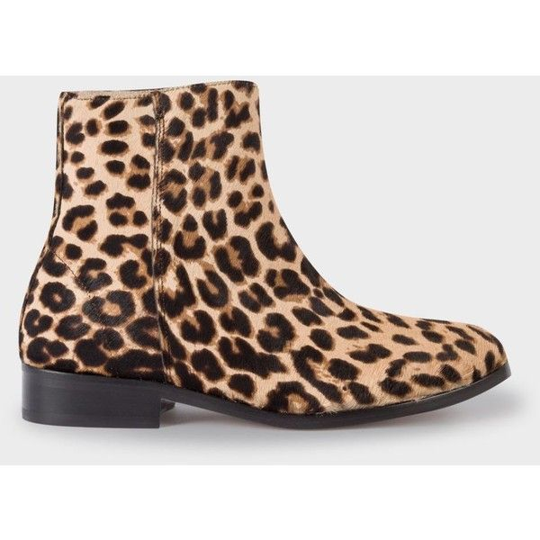 0a6fb09978be PS Paul Smith Women's Leopard Print Calf Hair 'Brooklyn' Boots (1,275 PEN)  ❤ liked on Polyvore featuring shoes, boots, calf hair boots, leopard shoes,  ...