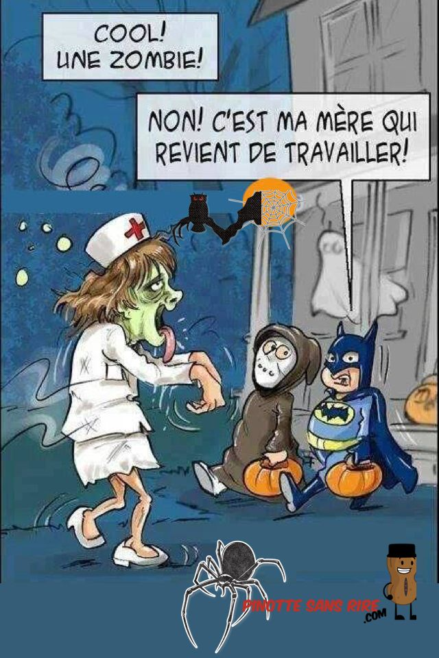 Soins infirmiers emplois humour pinterest humour - Image halloween drole ...