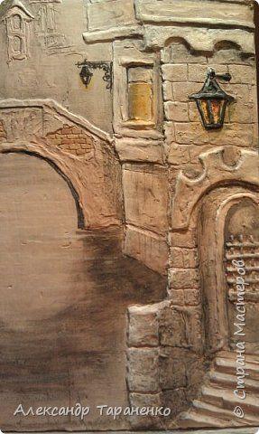 Картина панно рисунок Лепка Картина-барельеф Венеция Гипс фото 2