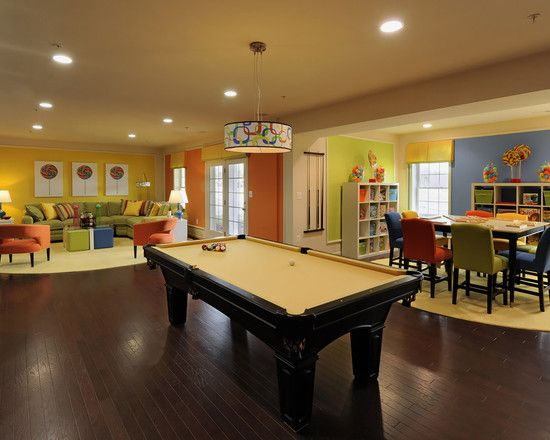 Game Room Family Room Design Ideas Pictures Remodel And Decor Game Room Family Modern Family Rooms Bright Family Room