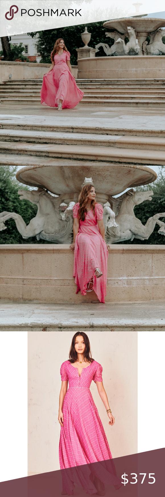 Love Shack Fancy Coralie Dress In Fuschia Maxi 6 Loveshackfancy Coralie Dress In Fuschia Berry In Excellent C Boho Floral Dress Long Flowy Maxi Dresses Dresses [ 1740 x 580 Pixel ]