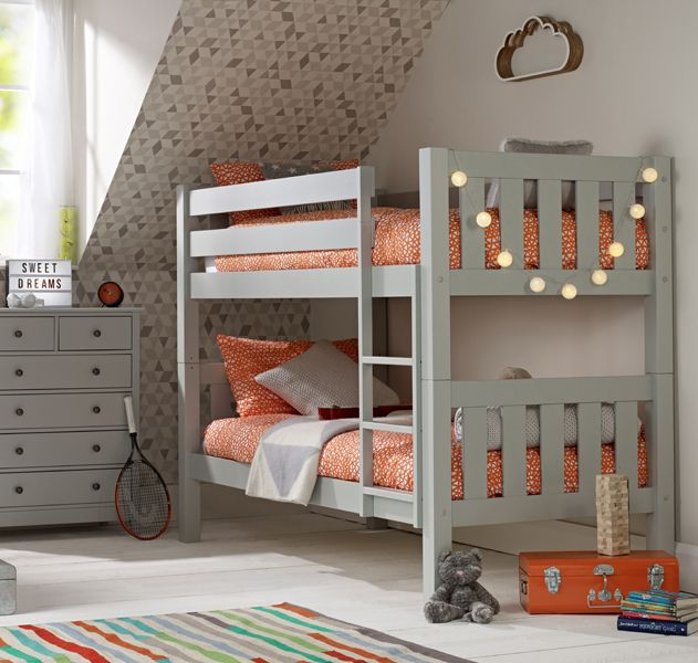 remarkable boys bedroom ideas loft bed | Jubilee Bunk Bed in Soft Grey in 2019 | Bunk bed rooms ...
