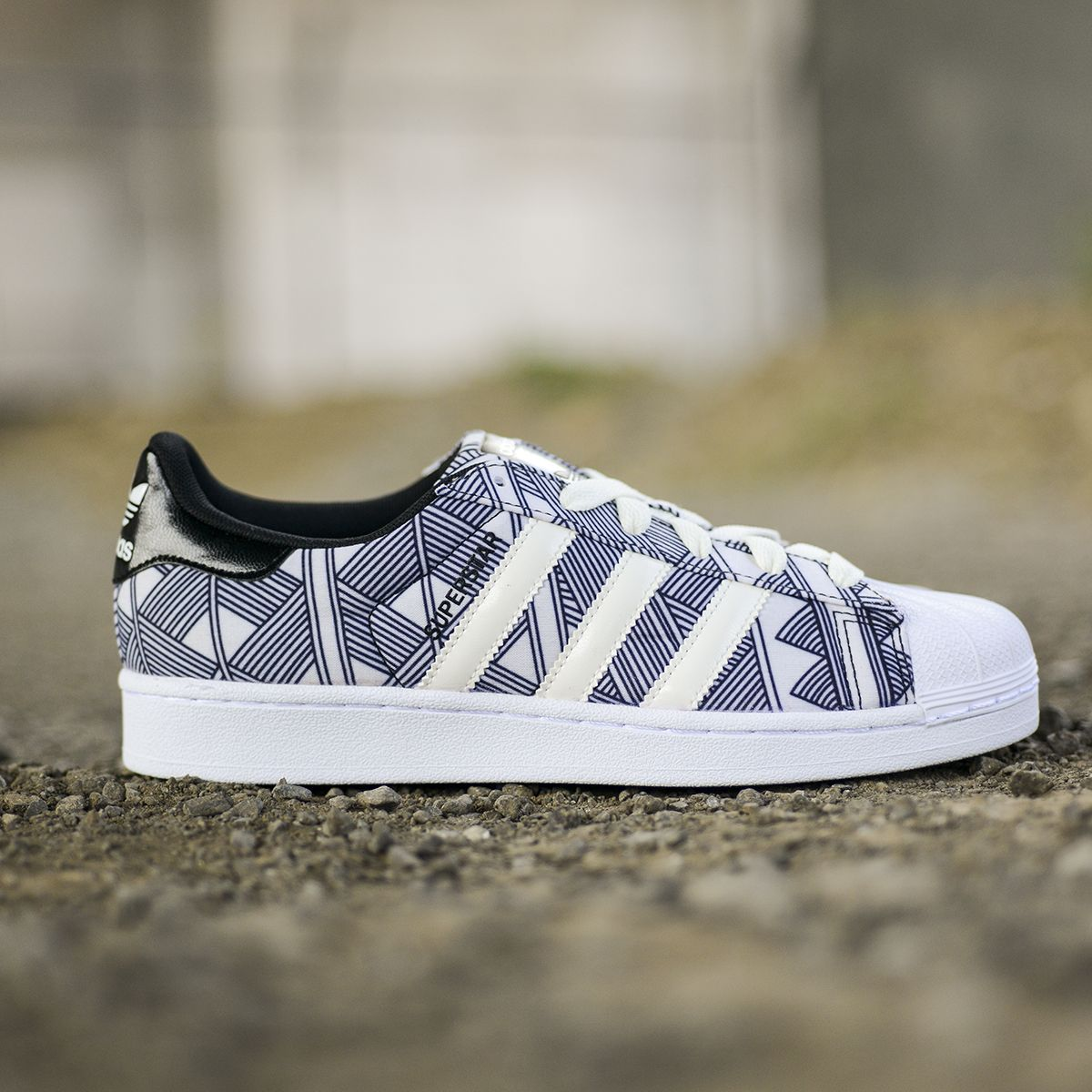 New Geometric Print Adidas Superstar Sneakers Who S Excited Sneaker Head Sneakers Fashion Sneakers