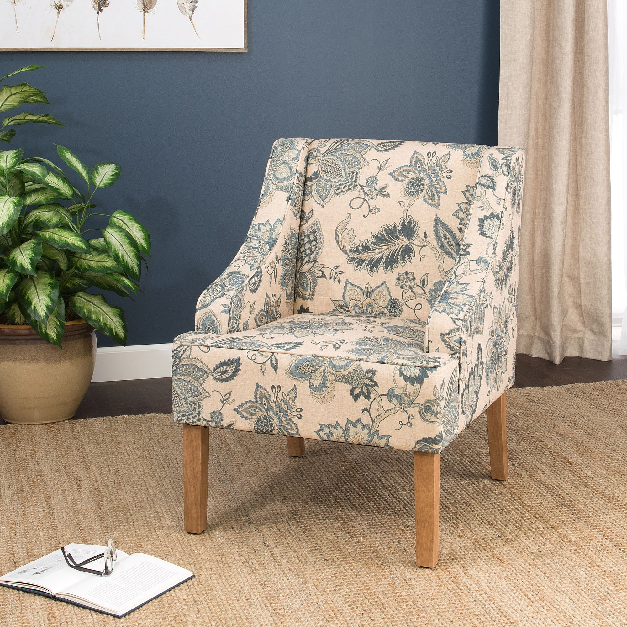 Best Lexie Swoop Arm Accent Chair Accent Chairs Fabric 400 x 300