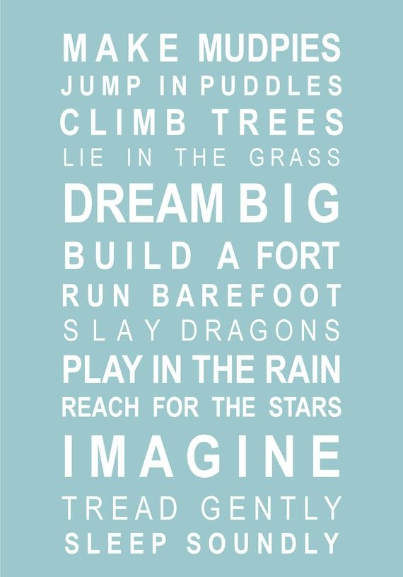 Typography print subway art Dreams for your boy  A2 by HarperGrace, $49.95