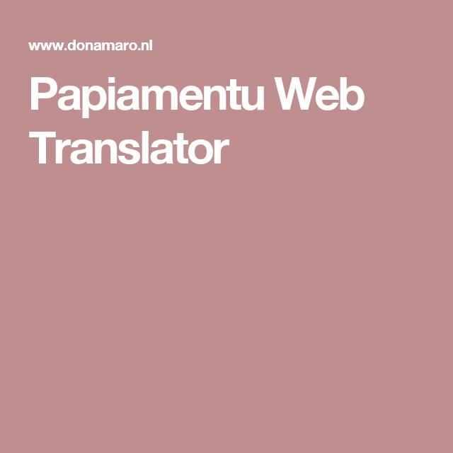 Papiamentu Web Translator