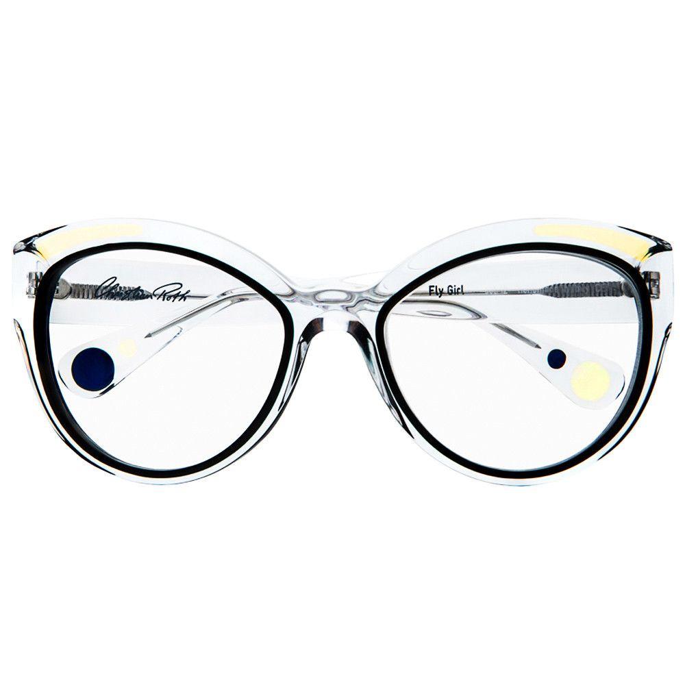 0ffd63f998 Christian Roth Eyeglasses - 2014 2015 - Fly Girl - in Crystal Clear ...