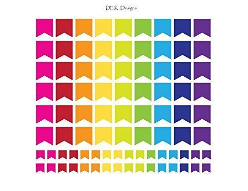 """Planner stickers, """"Rainbow Flags"""", sized to fit most planners. Kiss cut, just peel and stick."""