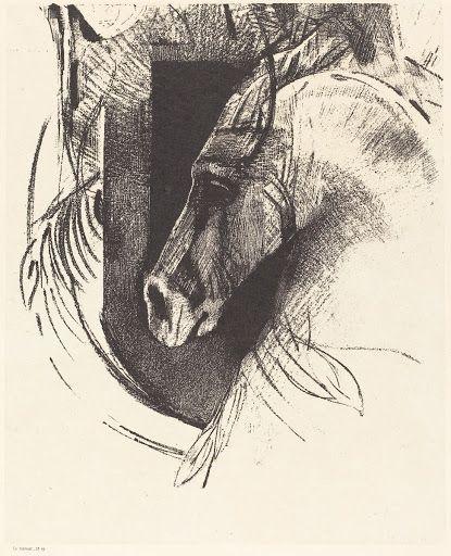 Le Coursier (The Race Horse) Odilon Redon1894