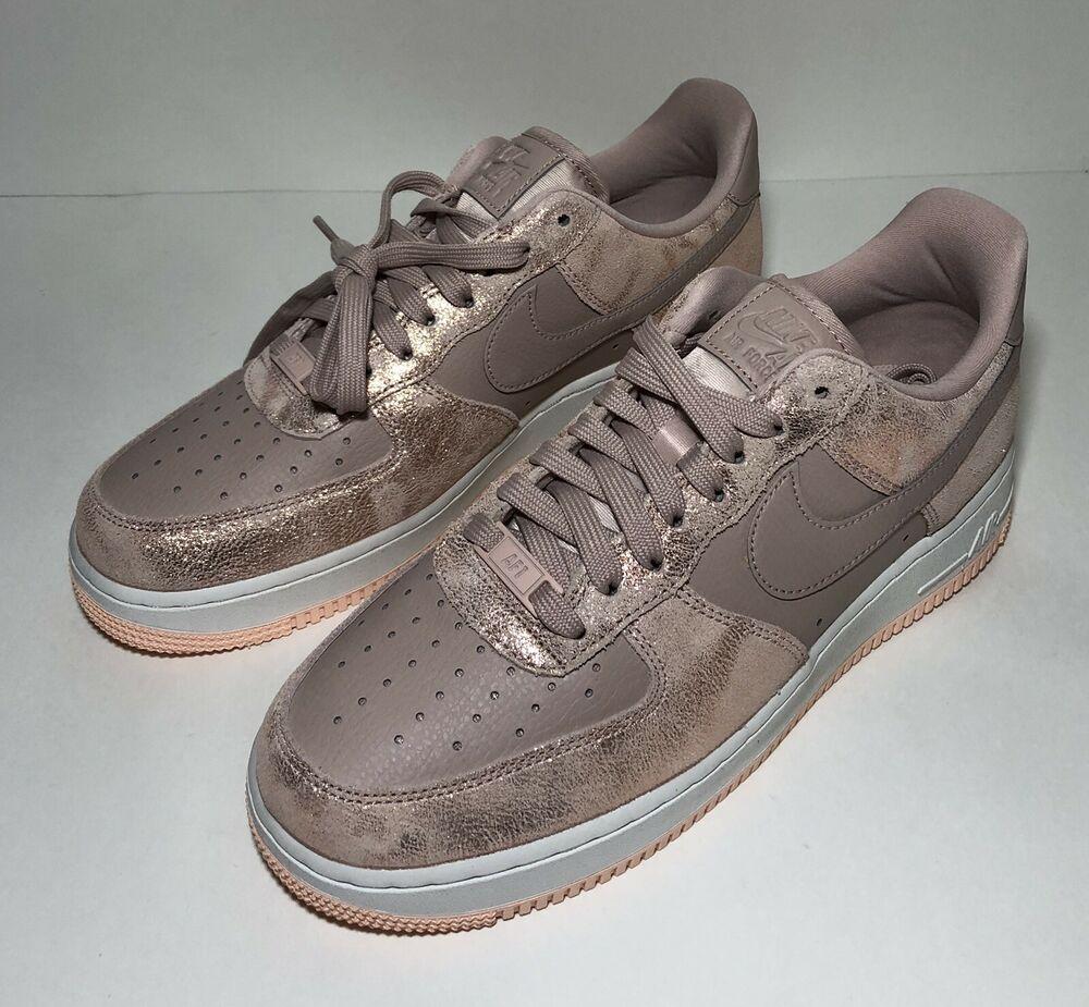 6ea4d0efe6670 Nike Air Force 1 07 AF1 Low Womens Sz 9 Metallic Red Bronze 616725 ...