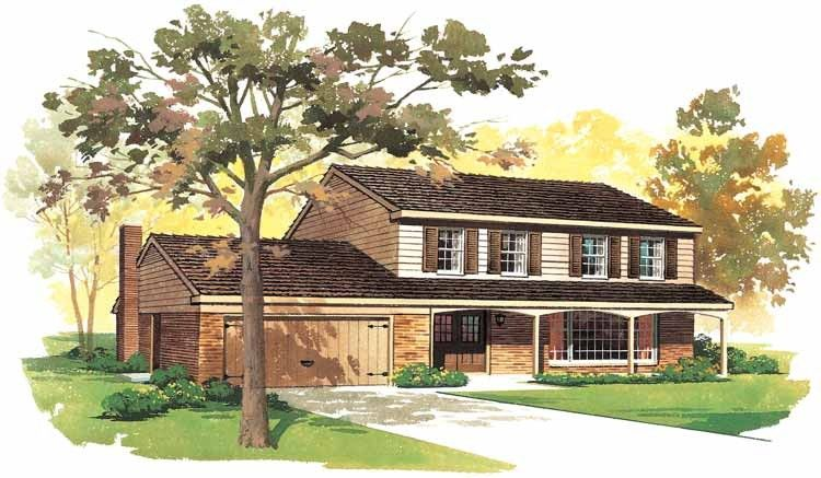 Country Style House Plan 4 Beds 2 5 Baths 1822 Sq Ft Plan 72 572 Country Style House Plans Country House Plans House Plans