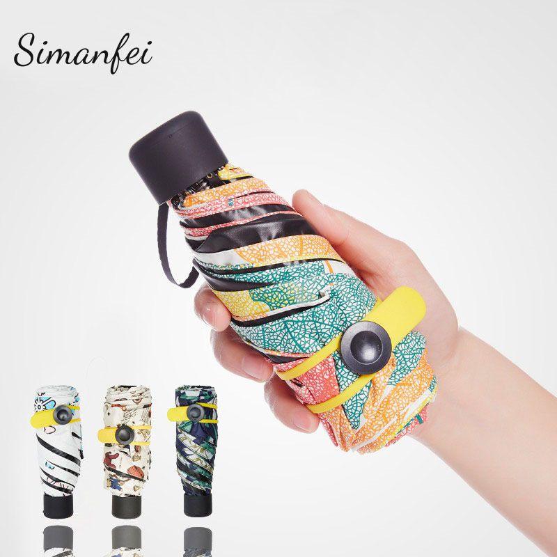 2fdb22d26d36 Simanfei Mini Pocket Umbrella Women Sunny and Rainy Fashion Folding ...