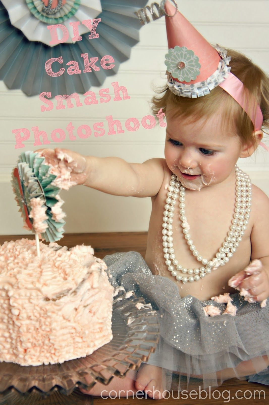 Bonnie's Winter ONEderland Cake Smash Photo Shoot DIY